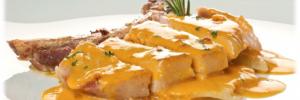 Chuletas de cerdo con salsa de mango