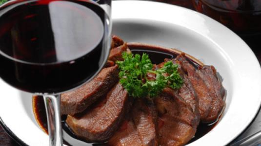maridaje de vino con carne