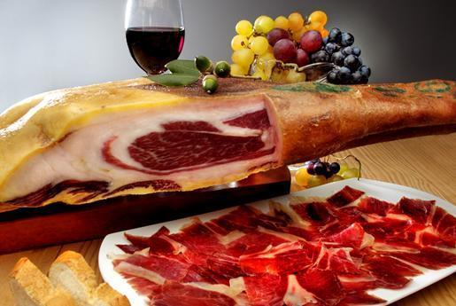 maridaje de vino con jamón