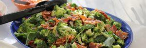 receta de brocoli con jamón
